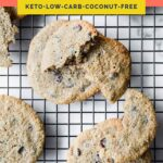 Nut-Free Keto Chocolate Chip Cookies pinterest pin image