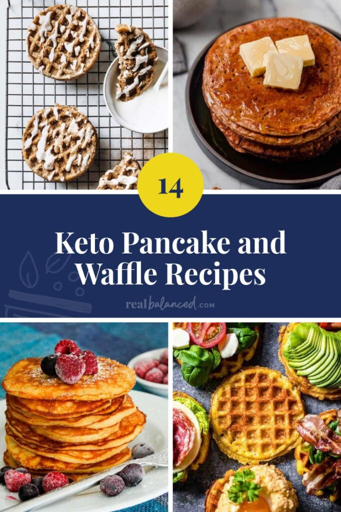 Keto Pancake and Waffle Recipes featured collage image