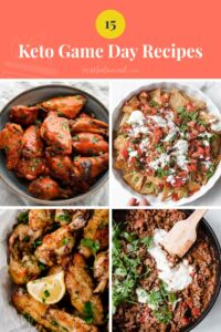 Keto game day recipes Pinterest pin image