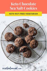 Keto Chocolate Sea Salt Cookies Pinterest pin image