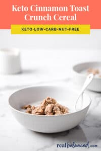 keto cinnamon toast crunch cereal recipe pinterest pin image