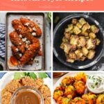 Keto Air Fryer Recipes Pinterest pin image