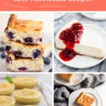 keto cheesecake recipes pinterest pin in coral
