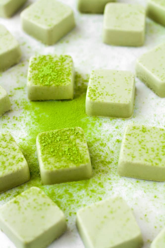 square-shaped keto-shamrock-shake-bites