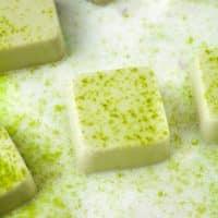 keto-shamrock-shake-bites-dusted with matcha powder