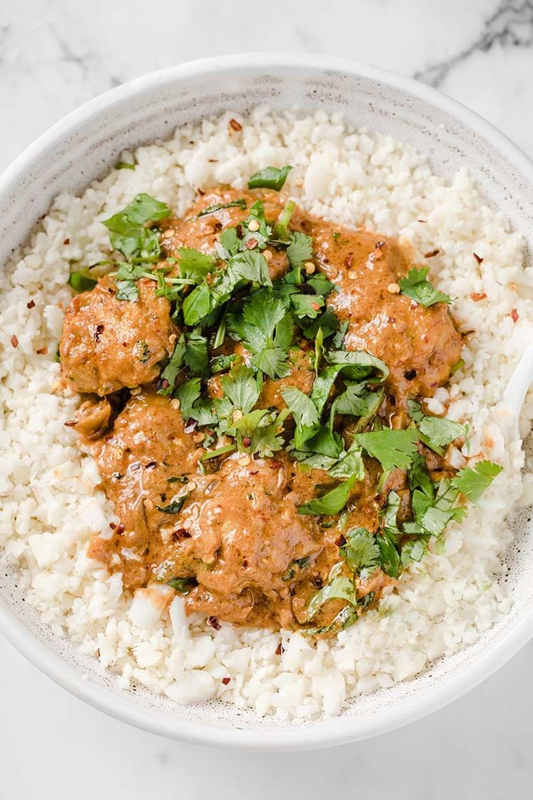 Keto Thai Coconut Curry Meatballs featured image