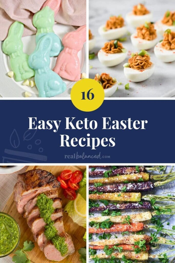 Featured blog image for keto easter recipes roundup