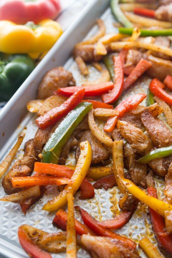 Keto Mexican-Inspired Recipes - Baked Chicken Fajitas