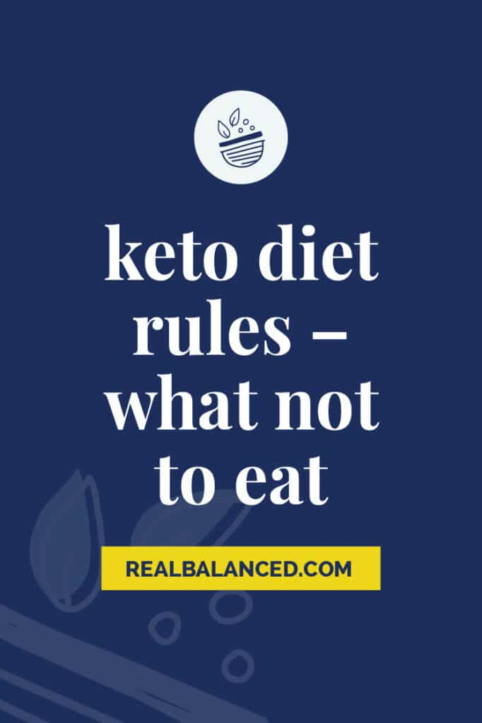 keto diet rules what not to eat pinterest pin in blue