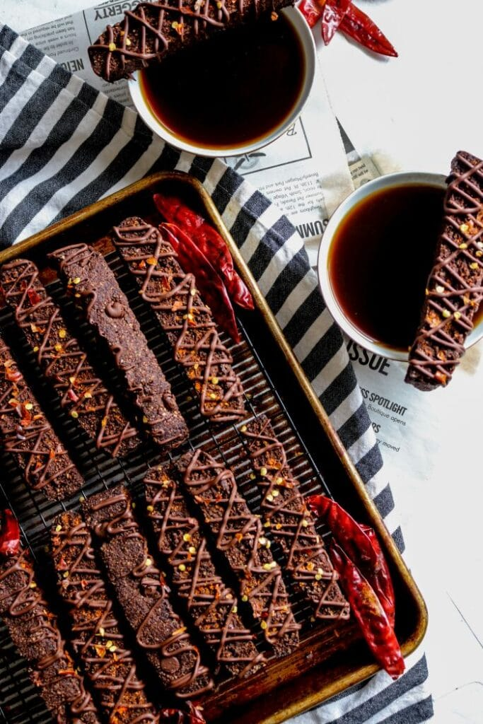 Keto Mexican-Inspired Recipes - MexicanHot Chocolate Biscotti