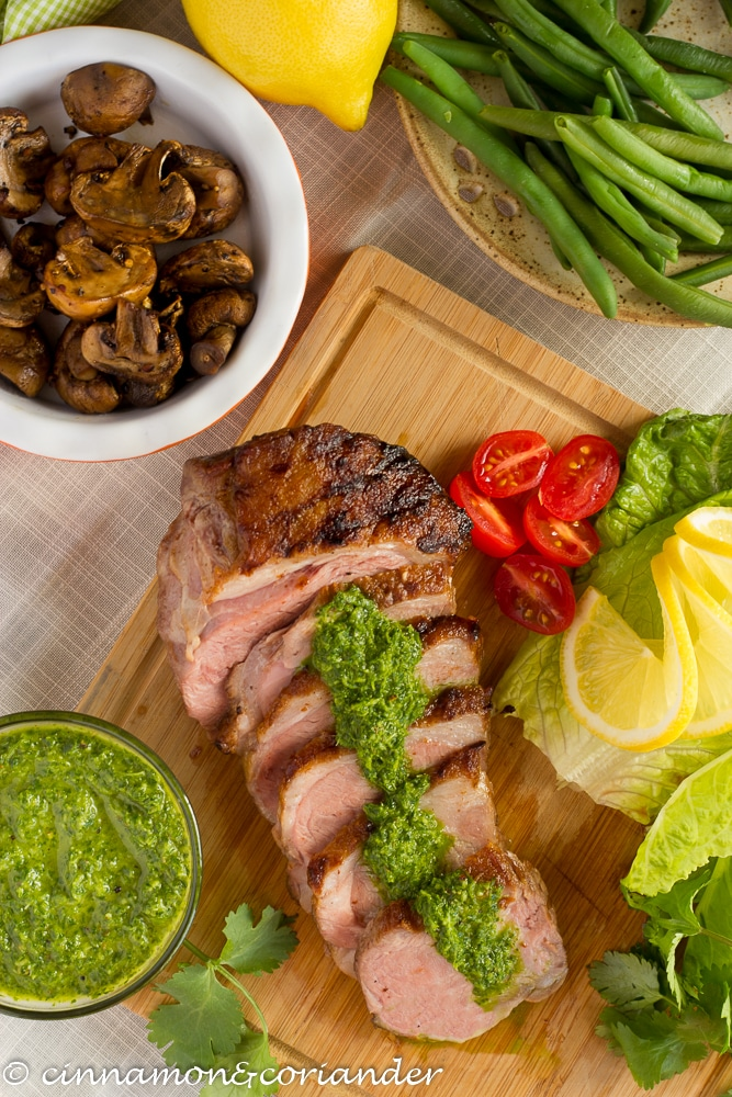 Lamb Sirloin with Chimichurri Sauce Easter Recipe