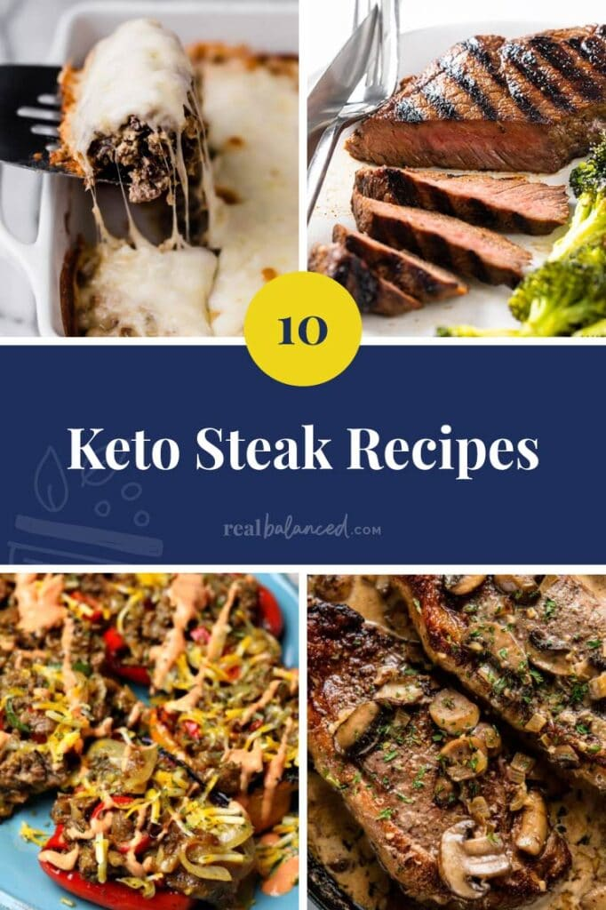 10 Keto Steak Recipes featured collage