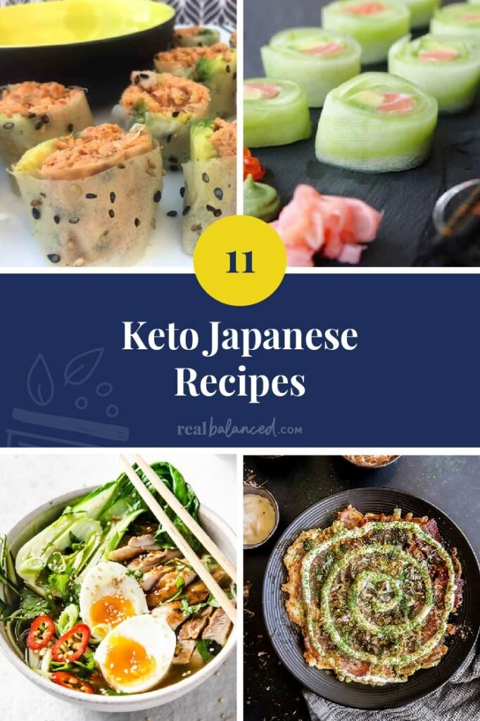 Keto Japanese Recipes collage