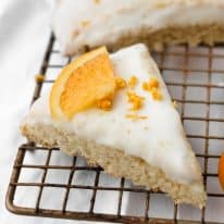 Low-Carb Glazed Orange Scones