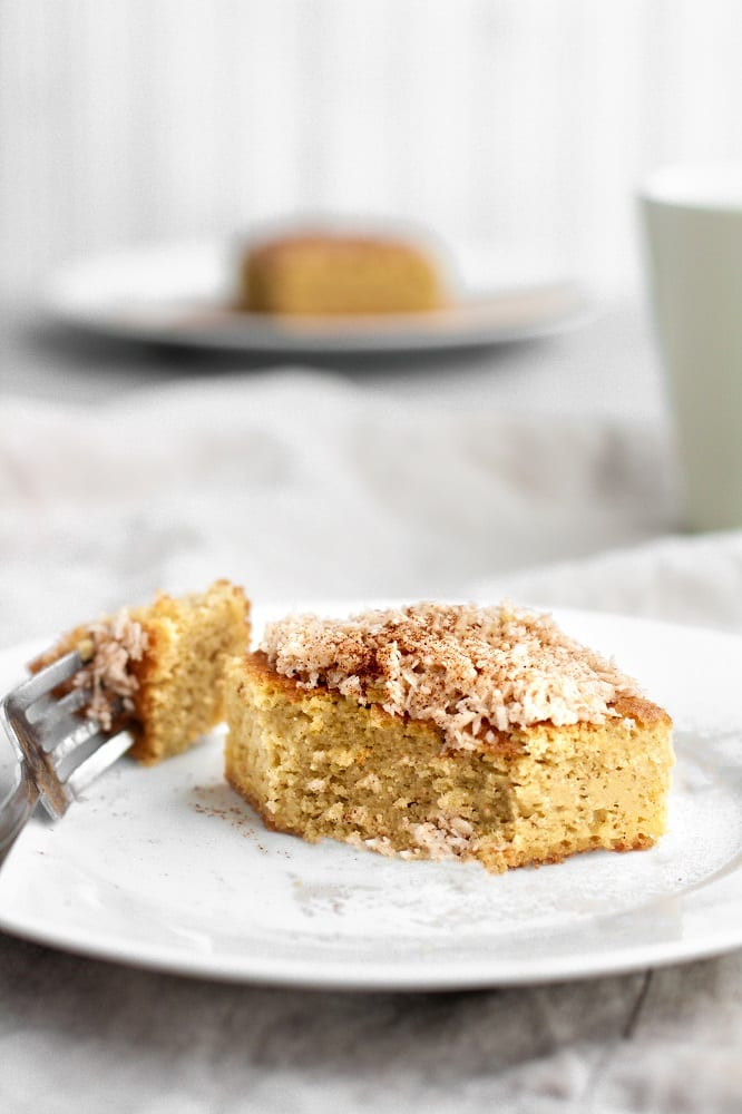 keto-coffee-cake-on-a-small-plate-with-a-fork