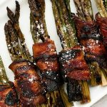 Bacon-Wrapped Maple Parmesan Asparagus Bundles