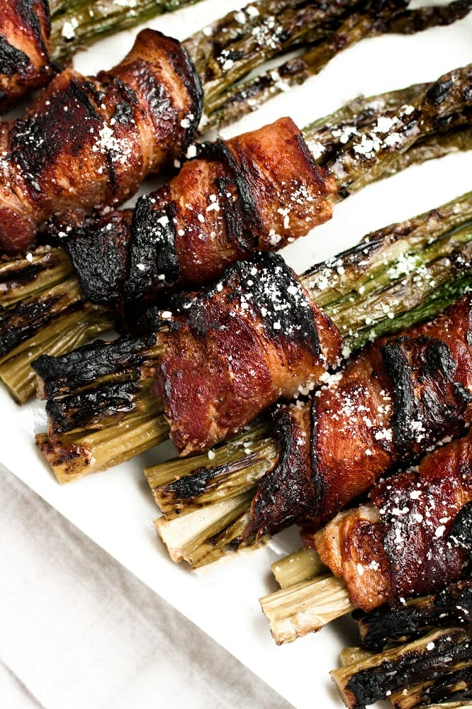 delicious maple bacon wrapped parmesan asparagus