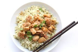 Dairy-Free Keto Recipes: easy lemongrass chicken with cilantro cauliflower rice