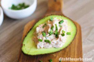 Dairy-Free Keto Recipes: easy avocado boats