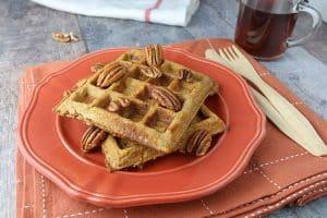 Dairy-Free Keto Recipes: pumpkin pie spiced waffles