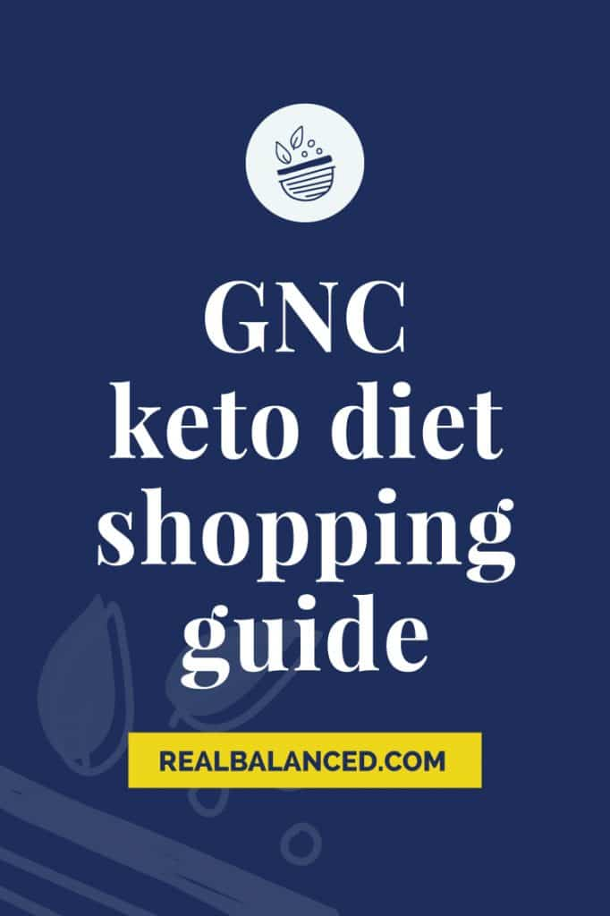 GNC Keto Diet Shopping Guide blue banner featured image