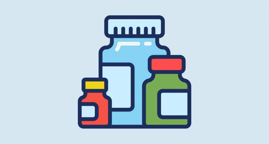 supplement bottles