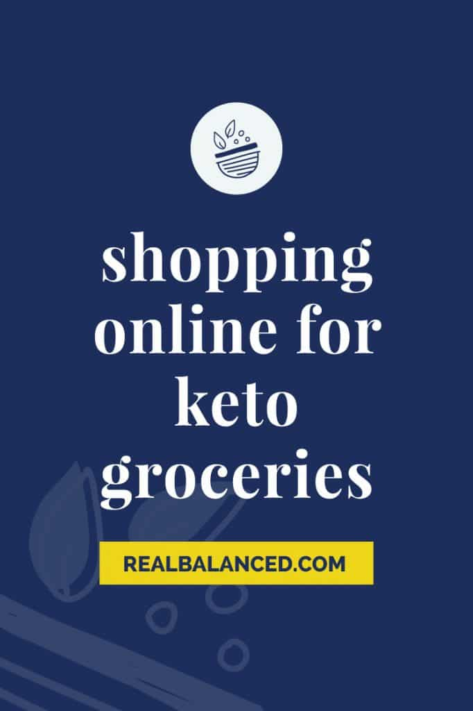 Shopping Online For Keto Groceries blue banner featured image