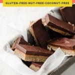 Nut-Free Keto Twix Bars coral colored Pinterest pin image