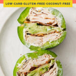 Bell Pepper Sandwich coral colored Pinterest Pin image