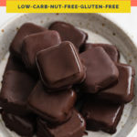 Keto Copycat Butterfinger Bites coral colored Pinterest Pin image